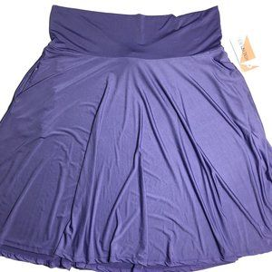 Honey and Lace Ventura Skirt w/Pockets Purple 3XL
